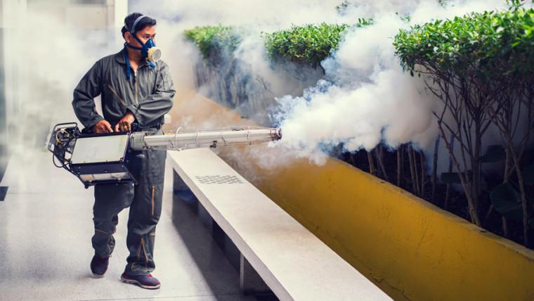 pest controlling using equipment